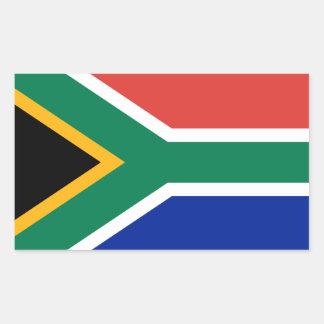 Sydafrika * flaggaklistermärke rektangulärt klistermärke