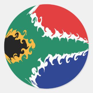 Sydafrika Gnarly flagga Runda Klistermärken