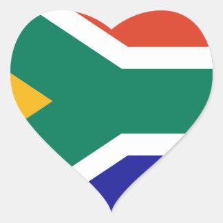 Sydafrika Hjärtformat Klistermärke