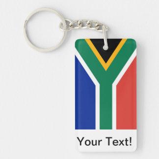 Sydafrika Rektangulärt Dubbelsidigt Nyckelring I Akryl