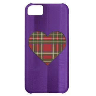 Sydd kunglig Stewart Tartanhjärta iPhone 5C Fodral