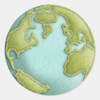Sydd mönsterklistermärke för jord 3D Runt Klistermärke