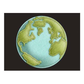Sydd mönstervykort för jord 3D Vykort