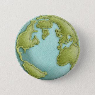 Sydde mönster för jord knäppas det 3D Standard Knapp Rund 5.7 Cm