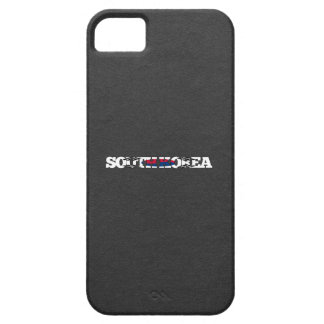 Sydkorea flaggastilsort iPhone 5 cover