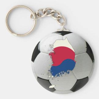 Sydkorea fotboll rund nyckelring