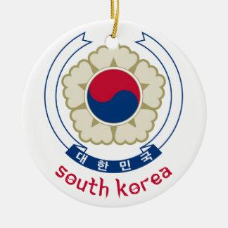 SYDKOREA - korean/asia/asiat/emblem/flagga Julgransprydnad Keramik