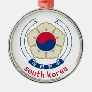 SYDKOREA - korean/asia/asiat/emblem/flagga Julgransprydnad Metall