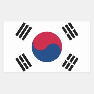 Sydkorea koreansk flagga Seoul S.K. Korean Vara Rektangulärt Klistermärke