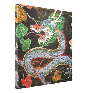 Sydkorea Namdaemun Sungnyemun drake Canvastryck