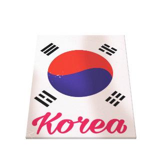 Sydkorea vintage resoraffisch canvastryck