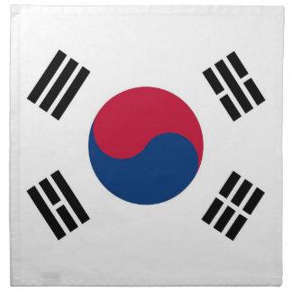 Sydkoreansk flagga på den MoJo servetten Tygservett