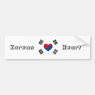 Sydkoreansk hjärta bildekal