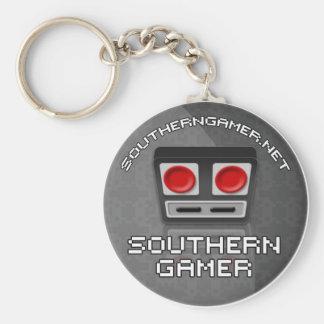 Sydlig Gamer Keychain Rund Nyckelring