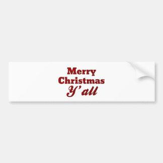 Sydlig julhälsning Houndstooth Bildekal