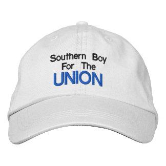 Sydlig pojke för den fackliga hatten broderad keps