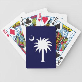 Sydlig SC-Palmetto som leker kort Spelkort