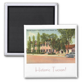 Sydlig Stillahavs- bussgarage, Tucson, AZ-vintage Magnet
