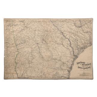 Sydliga Georgia och del av South Carolina (1865) Bordstablett