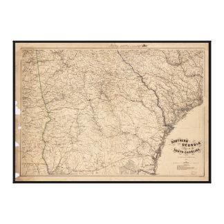 Sydliga Georgia och del av South Carolina (1865) Canvastryck