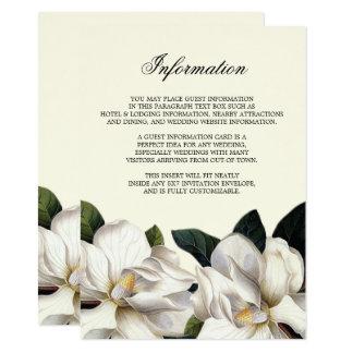 Sydligt botaniskt informationsmellanlägg om 11,4 x 15,9 cm inbjudningskort