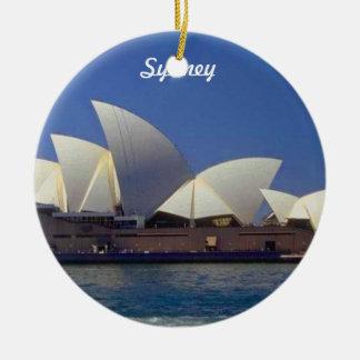 Sydney Australien reser julprydnaden Rund Julgransprydnad I Keramik