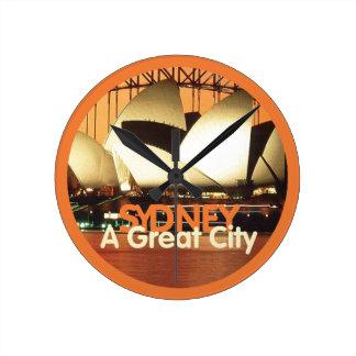 SYDNEY Australien Rund Klocka