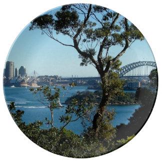 Sydney från den Sydney zooen Porslinstallrik