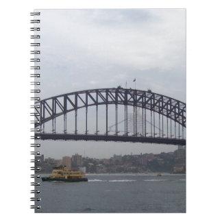 Sydney hamn anteckningsbok med spiral