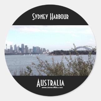 Sydney hamn rund klistermärke