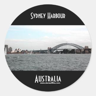 Sydney hamn runt klistermärke
