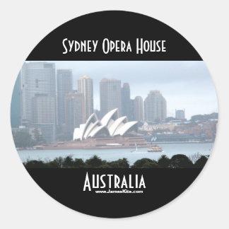 Sydney operahus rund klistermärke