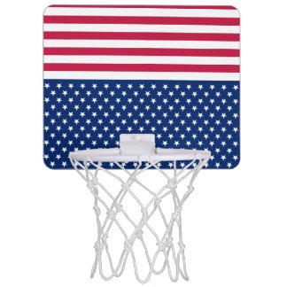Syfte för de röda randarna USA för Mini-Basketkorg
