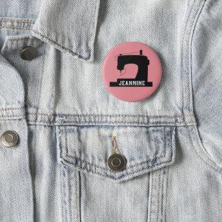 Symaskinen tillverkar symbolen/din text standard knapp rund 5.7 cm
