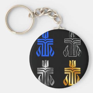 Symbol av den presbyterianska religionen rund nyckelring