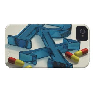 symbol för 3D RX med kapslar iPhone 4 Case-Mate Case