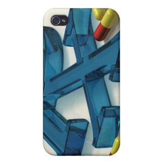 symbol för 3D RX med kapslar iPhone 4 Fodral