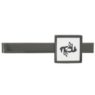Symbol för BI | för BI NKA av harmoni, fred, Slipsnål Med Metallgråfinish