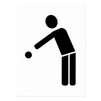 Symbol för BoulePetanque spelare Vykort