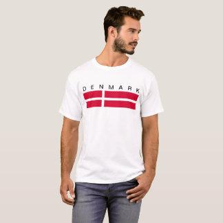 Symbol för Danmark landflagga long T-shirt