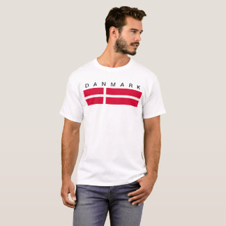 Symbol för Danmark landflagga long T Shirt