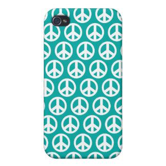 symbol för fred 4G för blått grönt iPhone 4 Skal