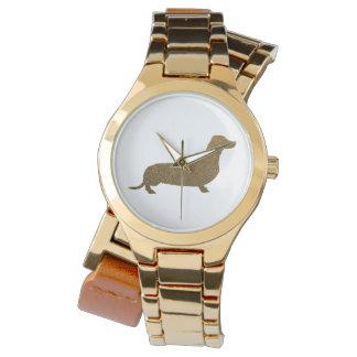 Symbol för hund älskare för taxFauxglitter | Armbandsur