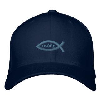 Symbol för Ichthys Jesus fiskkristen Broderad Keps