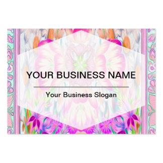 Symbol för kor för rosablommapetal set av breda visitkort