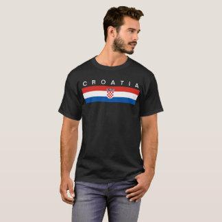 Symbol för Kroatienlandflagga long T-shirt