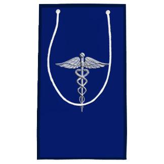 Symbol för lik Caduceus för krom medicinskt på
