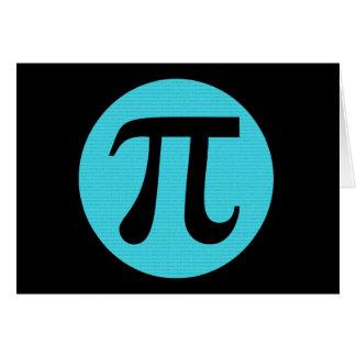 Symbol för MathgeekPi, blått på svart OBS Kort