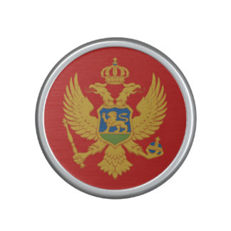Symbol för nation för Montenegro landflagga Högtalare