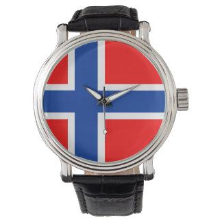 symbol för nation för norgelandflagga armbandsur
